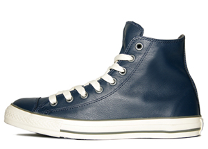 All Star Navy Leather Hi