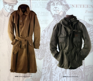 Trench Coat and Bicycle Jacket